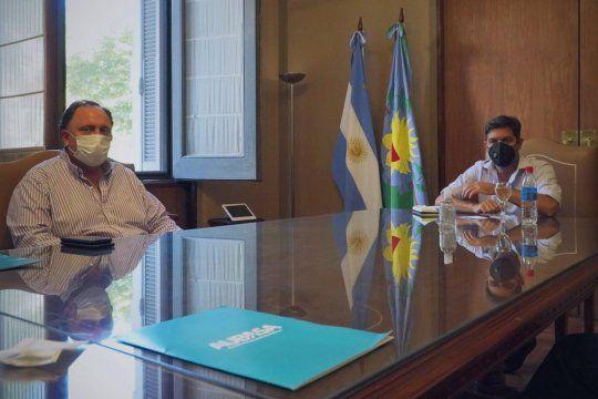Javier Osuna mantuvo un encuentro con el jefe de Gabinete, Carlos Bianco.