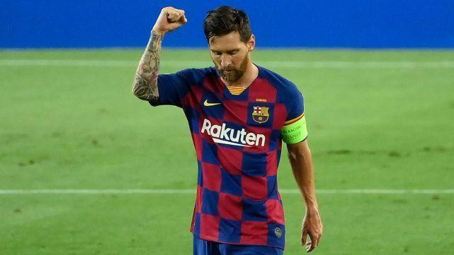 """Messi pidió """"inconformismo y éxitos"""" para renovar su contrato en el Barcelona."""