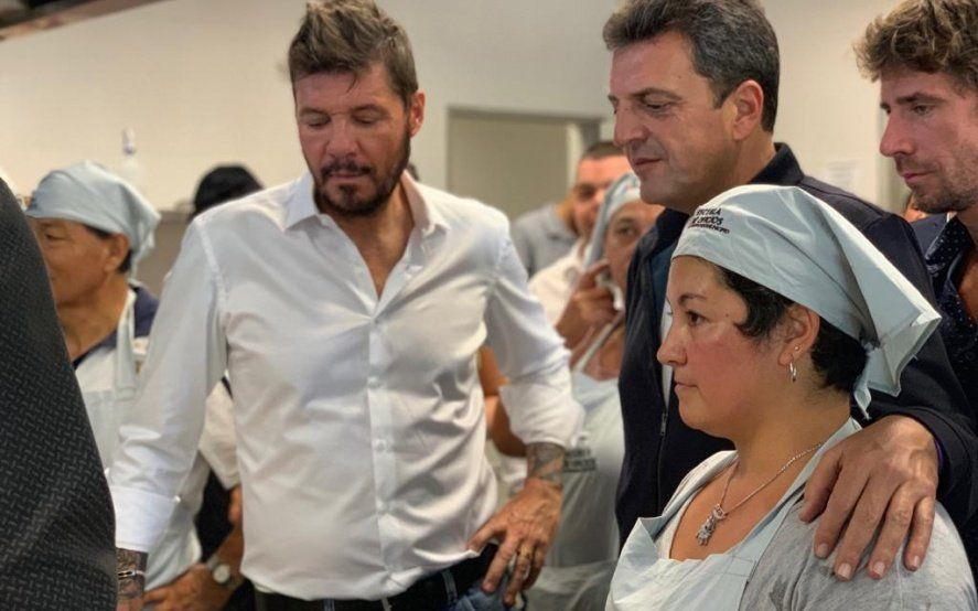Massa recorrió junto a Tinelli la escuela de oficios municipal de San Fernando