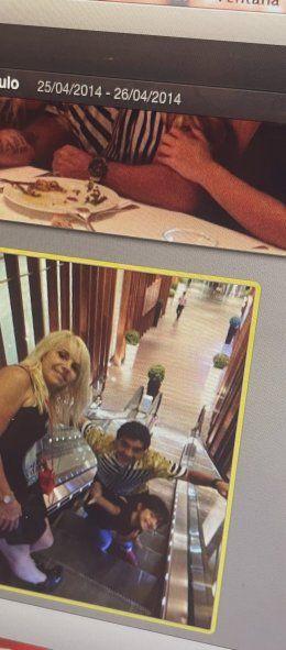 Otra foto familiar tomada por Gianinna que incluye a Claudia