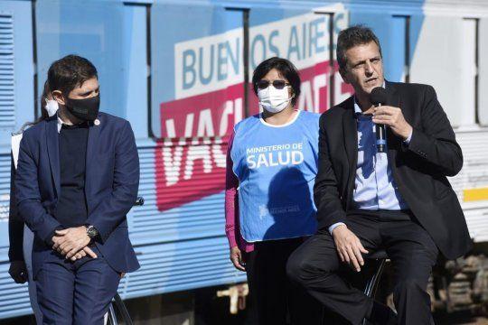 Sergio Massa y Axel Kicillof presentaron el tren sanitario