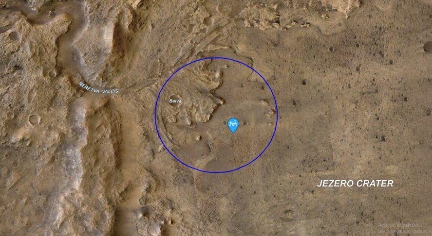 La NASA publicó un mapa interactivo para conocer la ubicación del rover Perseverance