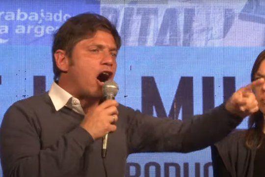 El gobernador Axel Kicillof habló durante un congreso de la militancia de la CTA autónoma.