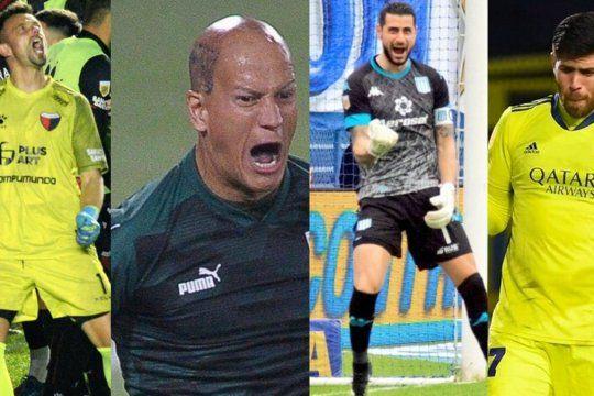 Burían, Sosa, Arias y Rossi, los arqueros protagonistas de los cuartos de la Copa de la Liga.