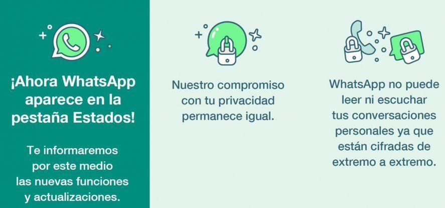 Whatsapp anuncia a sus usuarios que se comunicara a través de estados