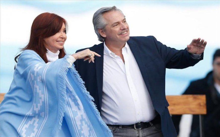 Alberto Fernández junto a Cristina Fernández de Kirchner, la fórmula electoral que ganó en 2019.