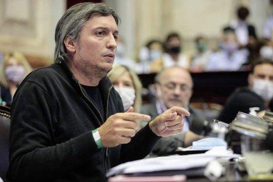 Máximo Kirchner manifestó su enojo con la oposición.