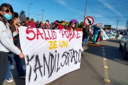 tandil: nueva protesta de trabajadores de la salud