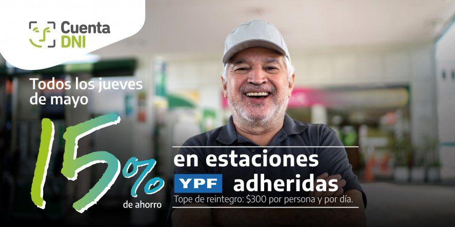 El tope de reintegro del descuento en YPF es de 300 pesos