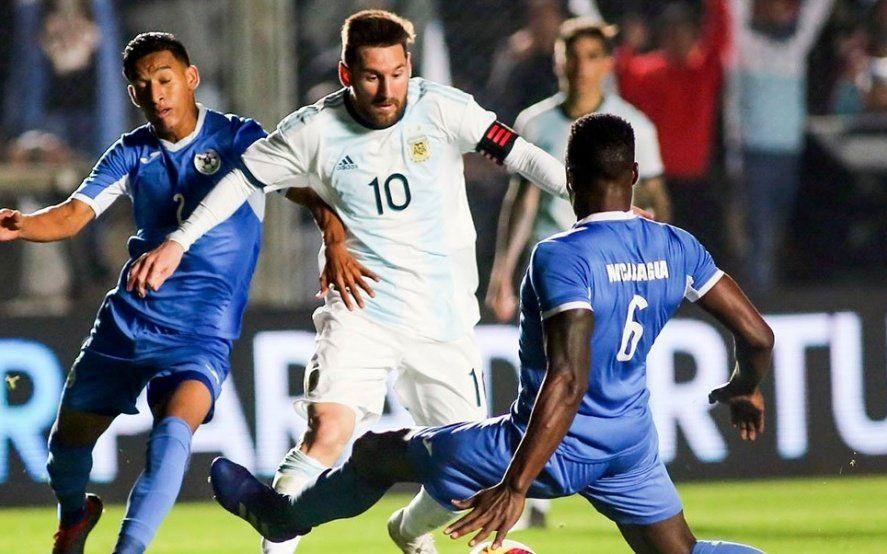 Argentina goleó a Nicaragua en su último amistoso antes de la Copa América