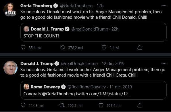 Mientras se definen las elecciones estadounidenses, la activista sueca Greta Thunberg se tomó revancha