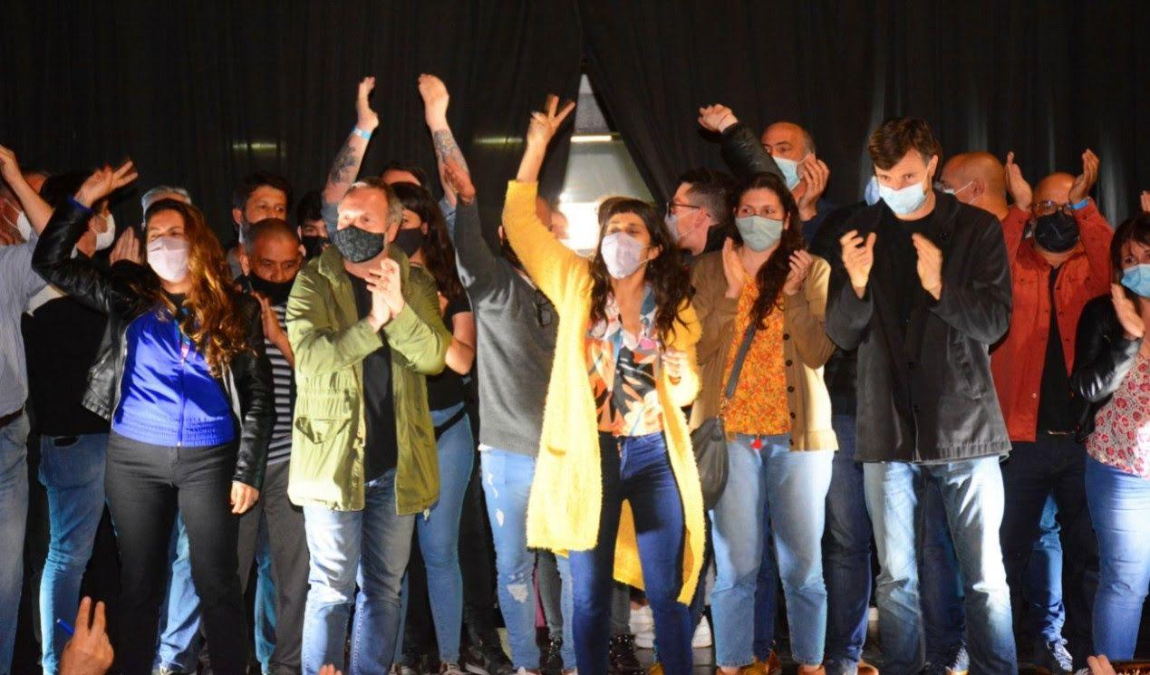 Los festejos de Nuevo Encuentro en Morón, a pesar de la derrota