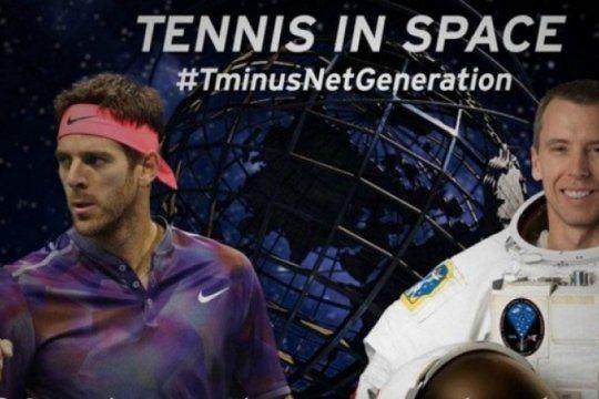 de otro planeta: del potro protagonista del primer partido de tenis en el espacio