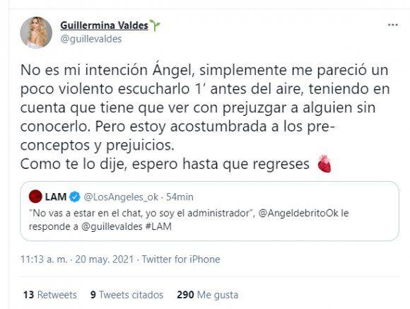 Guillermina Valdés no está en el grupo de WhatsApp del jurado y se armó lío