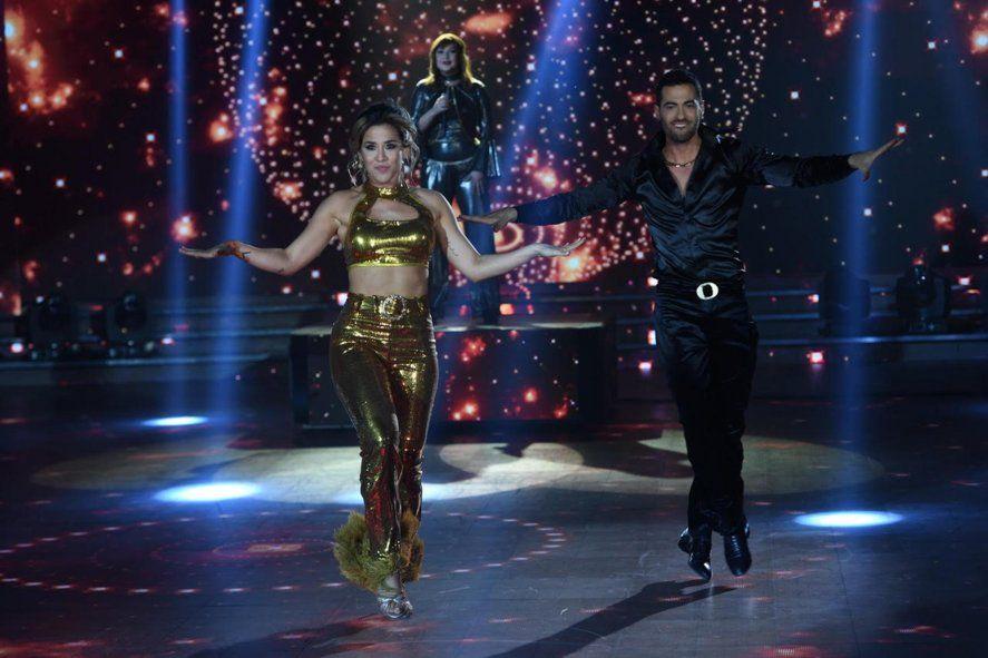 Jimena Barón en la pista del Bailando junto a Facundo Mazzei
