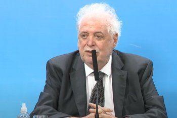 El ministro de Salud de la Nación, Ginés González García, encabeza la conferencia.