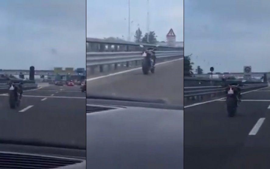 Insólito: una moto sin conductor chocó en Lavallol y el servicio del tren Roca funciona con demoras