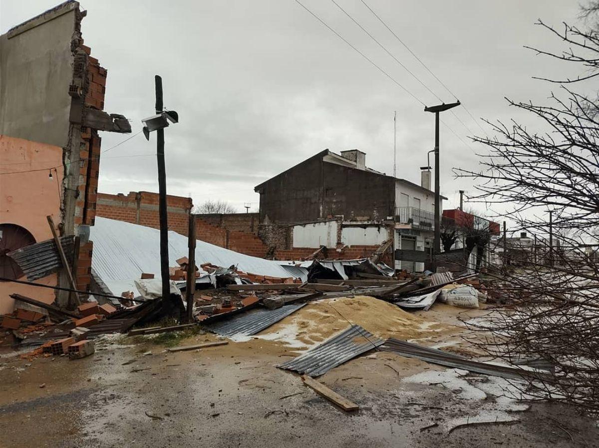 El temporal causó destrozos en Saladillo (Imagen: La nueva radio Suárez)
