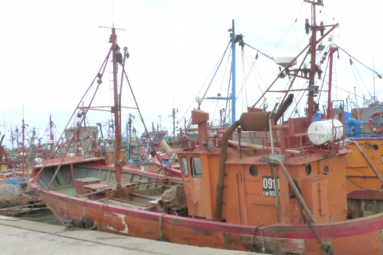 gremios portuarios anunciaron un ?paro total? tras la desaparicion del buque pesquero rigel
