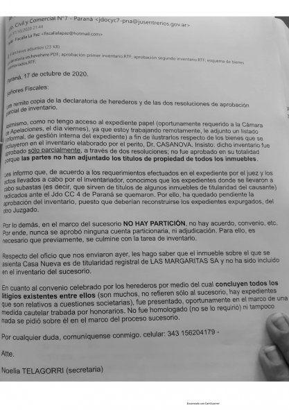El documento que compartieron desde Proyecto Artigas.