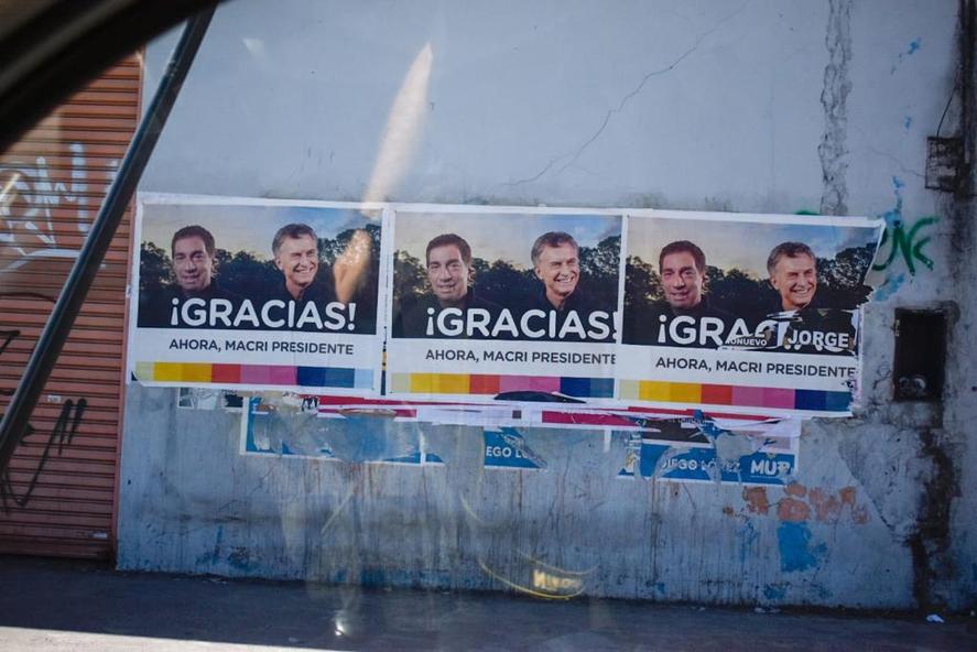 Los afiches de Mauricio Macri sorprendieron en el Conurbano