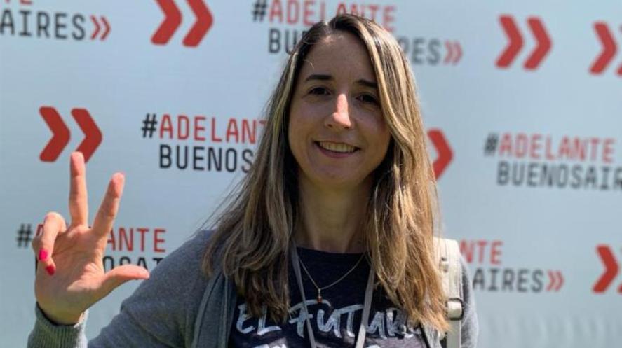 FLavia Delmonte, precandidata a senadora por la Quinta en estas elecciones, dentro de la UCR