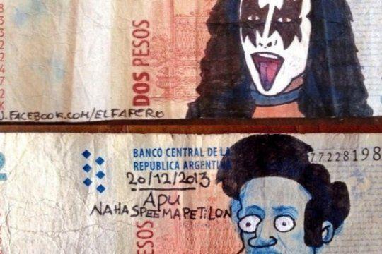 desde ricky fort hasta el gigolo, los mejores dibujos en los billetes de 2 pesos que dejaran de circular