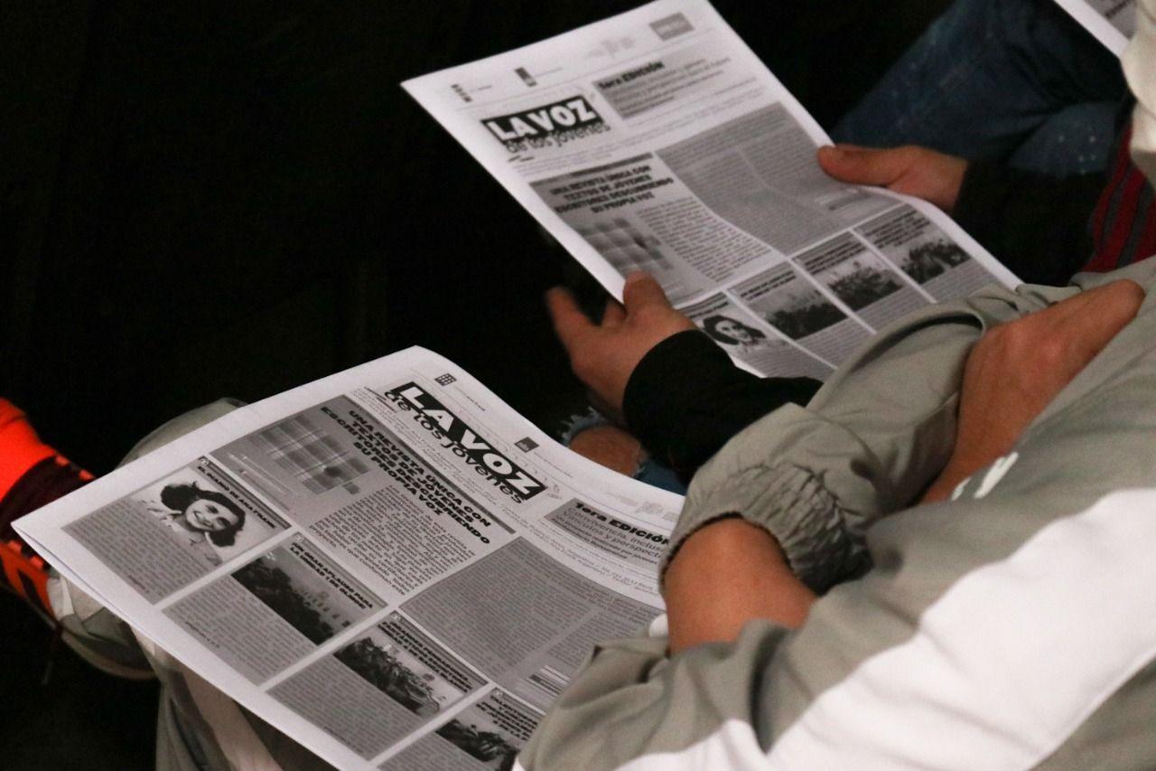 El periódico La Voz de los Jóvenes fue presentado esta semana