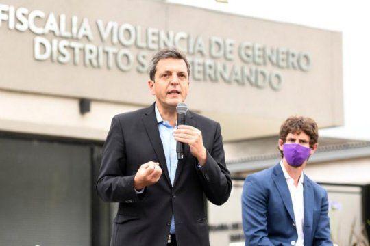 Massa visitó San Fernando para inaugurar una Fiscalía y Comisaría de la Mujer y la Familia