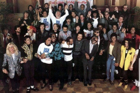Hoy se cumplen 35 años del Grammy al tema de USA for África, de Michael Jackson y Lionel Richie, con 45 mega estrellas de la música