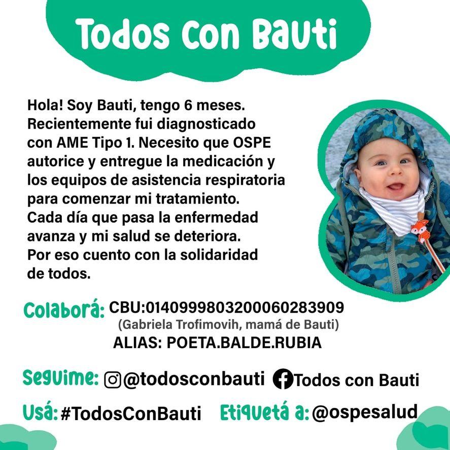 El nene de La Plata fue diagnosticado con AME tipo 1