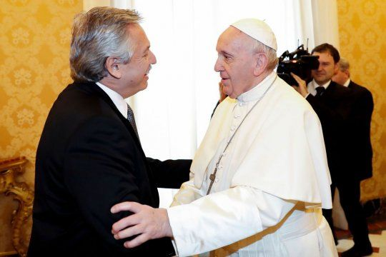 Alberto Fernández y el papa Francisco se reunieron nuevamente (foto archivo)