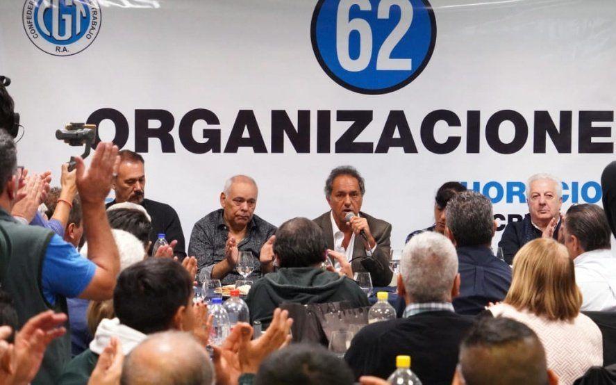 En busca de apoyos: Scioli se reunió con las 62 Organizaciones Justicialistas