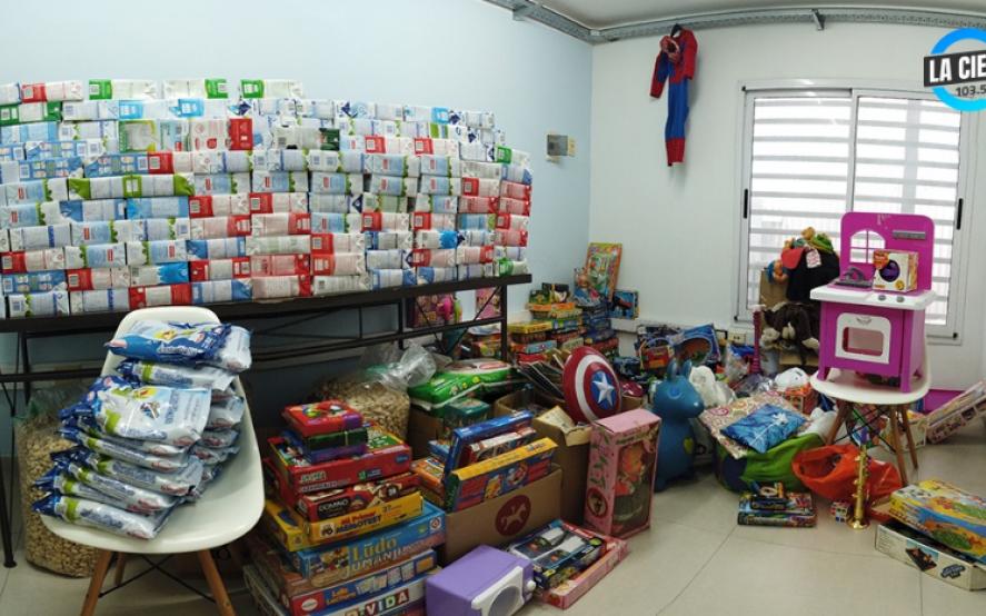 600 litros de leche, juguetes y ropa: la colecta de La Cielo para distintos comedores de La Plata