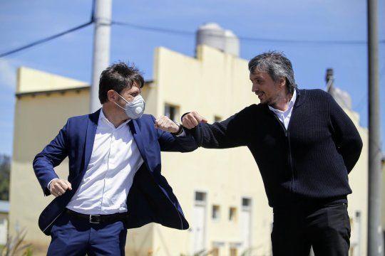 El Gobernador bonaerense, Axel Kicillof, también se mostró a favor de que Máximo sea el presidente del Partido Justicialista bonaerense.