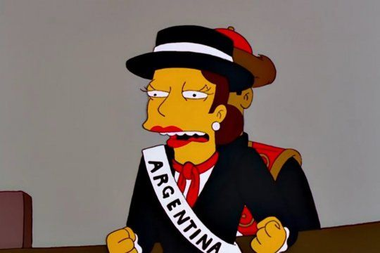 Todas las referencias a Argentina en Los Simpson en un solo tweet