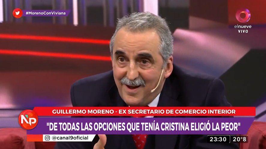 Guillermo Moreno dijo que de todas las opciones que tenía