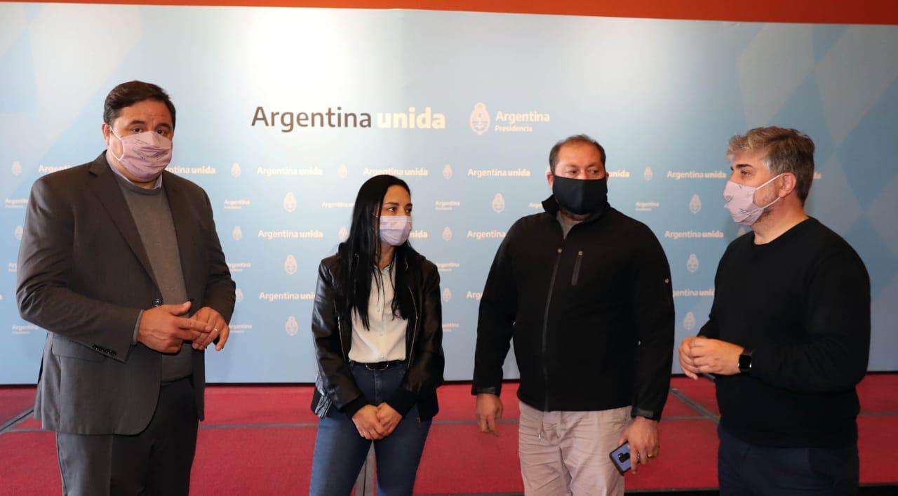 Patricia Castro, Rodolfo Manino Iriart , Lorenzo Beccaría y Juan José Castro, cuatro dirigentes que la Casa Rosada sigue de cerca para estas elecciones.