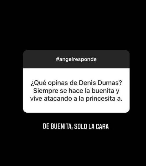 Ángel de Brito sobre Denise Dumas