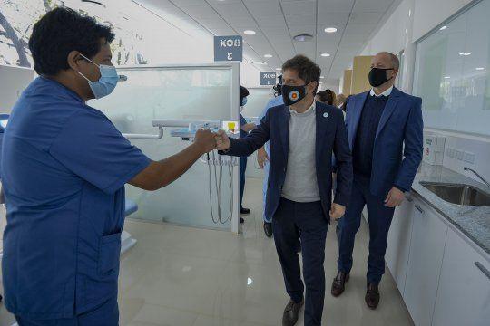 Axel Kicillof y Martín Insaurralde inauguraron dos hospitales en Lomas de Zamora.