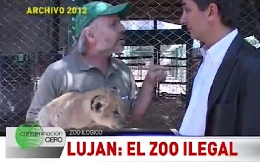 El día que un informe de TV escrachó al dueño del Zoo de Luján