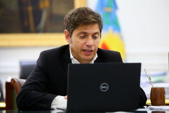 Desde su despacho en La Plata, Axel Kicillof participó de la audiencia por la causa dólar futuro.