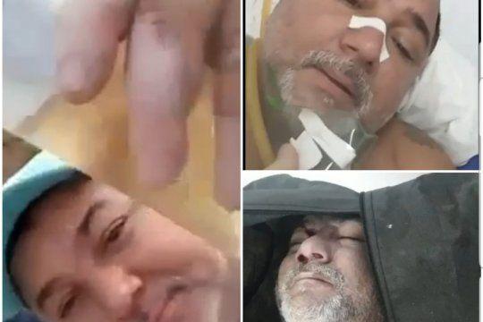 Tres momentos del video de un hombre brasileño que se grabó en fiestas, terminó en Terapia Intensiva y luego murió de Coronavirus. Aconsejó antes quedarse en casa