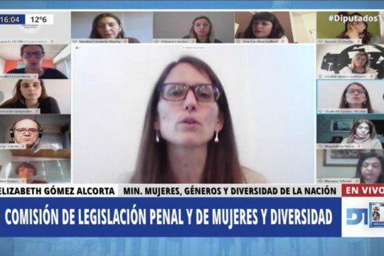 proyectos contra la violencia de genero: gomez alcorta expuso en diputados