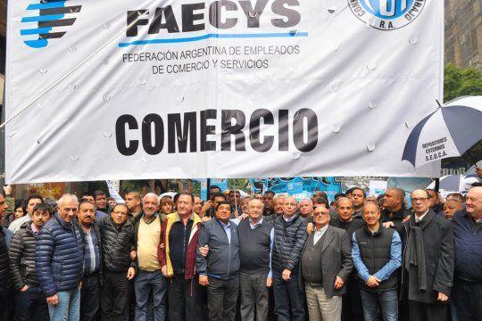 Los empleados de comercio, a través del gremo conducido por Cavalieri, solicitaron un aumento de salarios