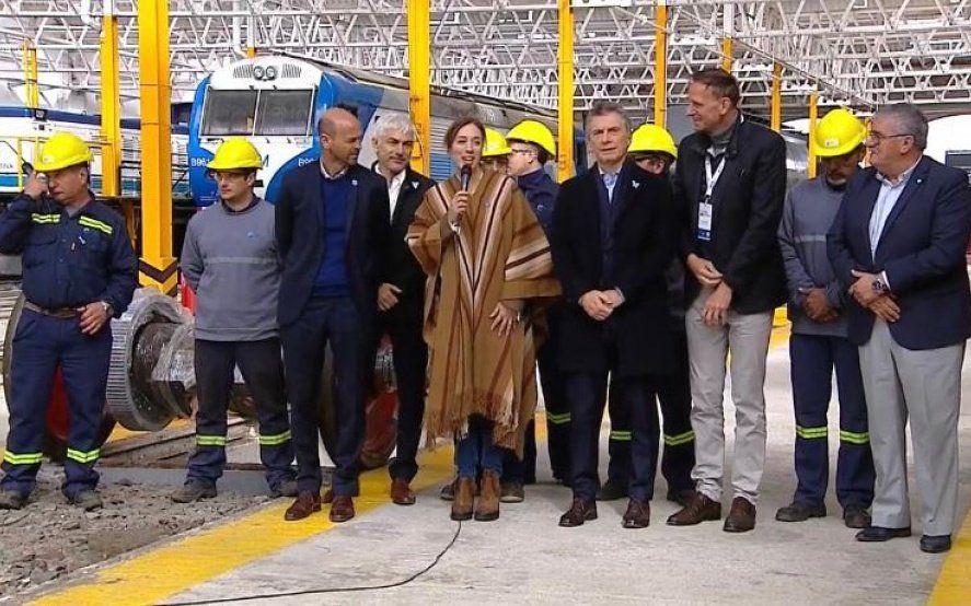 Reactivación de Mechita: Macri y Vidal inauguraron la ampliación de taller ferroviario