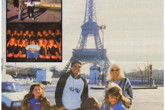 Maradona en Paris cuando estaba con Claudia Villafañe y sus hijas