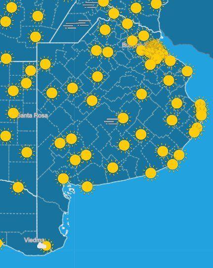 El pronóstico del SMN anuncia un martes a puro sol en la Provincia.