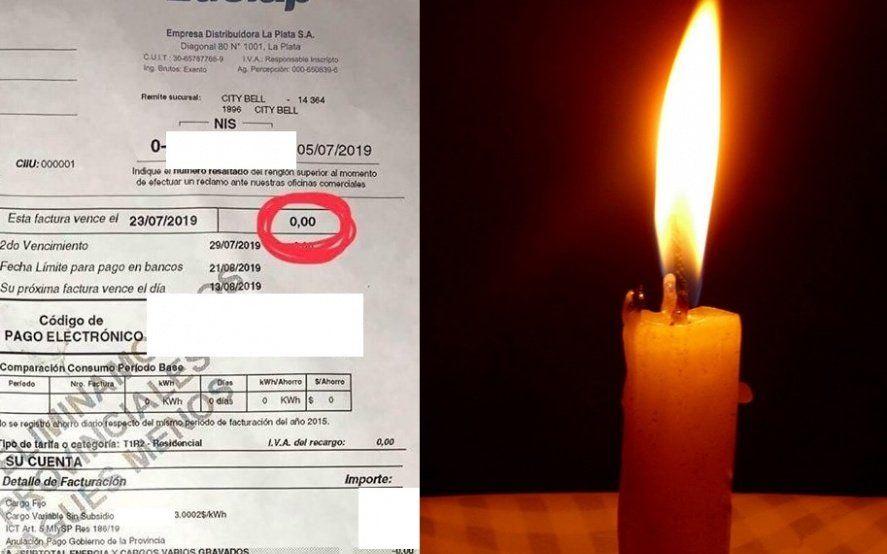 Apagón en La Plata: ya llegan facturas de Edelap con saldo cero para los afectados
