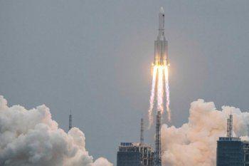 Lanzamiento del cohete chino Long March 5B el pasado 29 de abril.